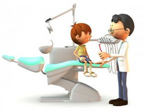 family dentist in whittier with patient